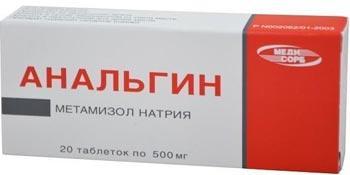 Analgin 0,5 N20 tab Medisorb