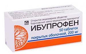 Ibuprofen din uzina Borisov, Rusia